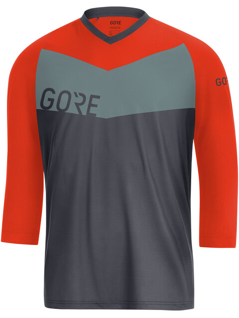 GORE WEAR C5 All Mountain 3/4 Jersey Men terra grey/orange.com
